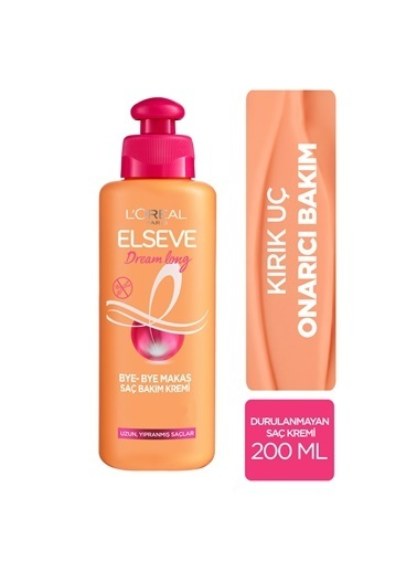L'Oréal Paris L'Oréal Paris Elseve Dream Long Bye-Bye Makas Saç Bakım Kremi 200 ml Renksiz